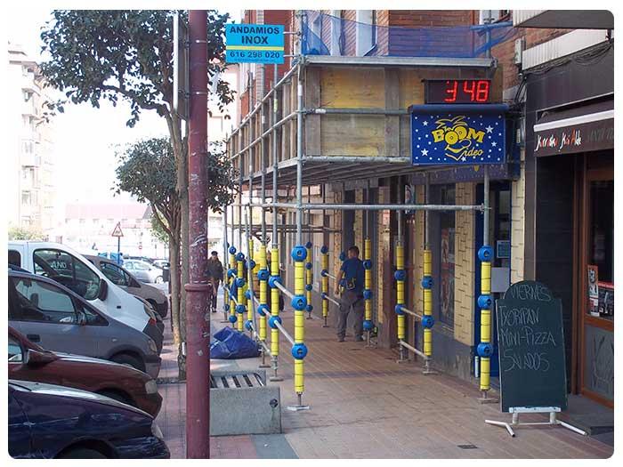 Protecciones en Andamios INOX en Bilbao