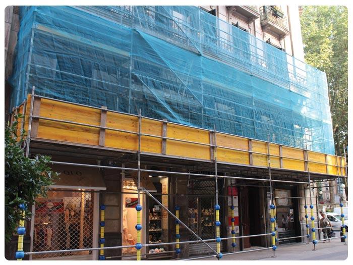Protecciones Andamios INOX en Berastegi, Abando (Bilbao)