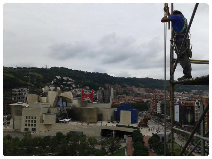 Andamios INOX para montaje en Plaza Euskadi (BIlbao)