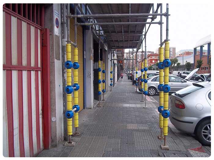 Viseras de protección en Andamios INOX en Bilbao