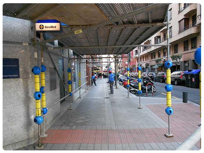 Viseras de protección en Andamios INOX en Vizcaya