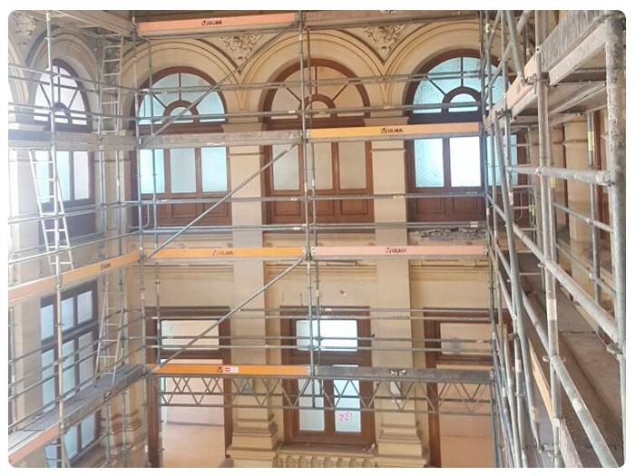Andamios INOX Singular Edificio Aduanas 2